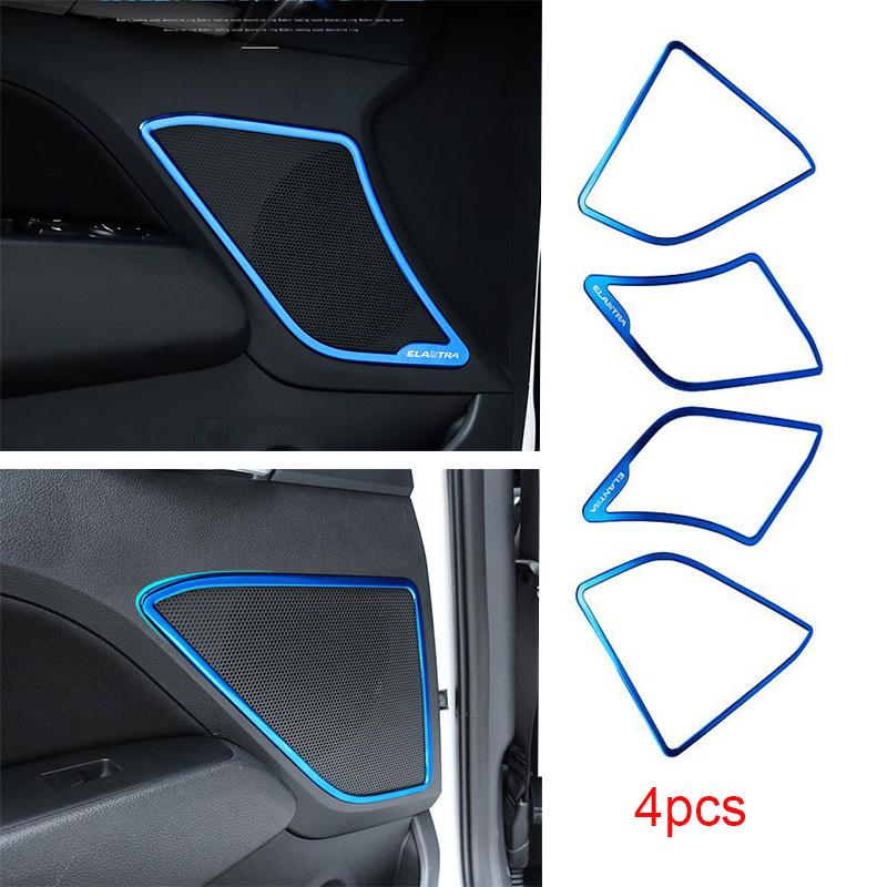 Black titanium Car Door Lock Protection Cover Trim For Hyundai Elantra 2017 2018
