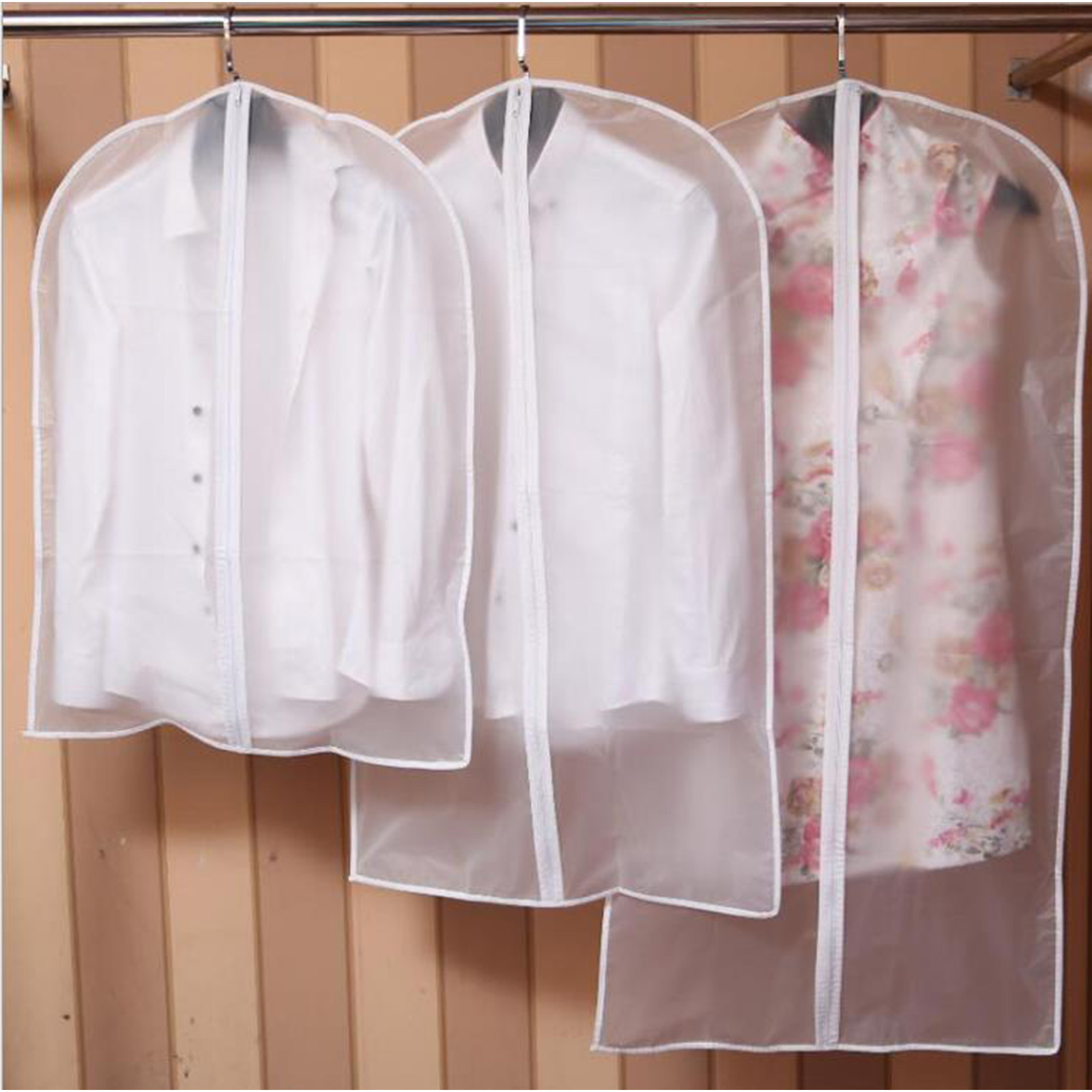 Clear Dust Proof Dress Clothes Cover Suit Garment Bag Storage Protector