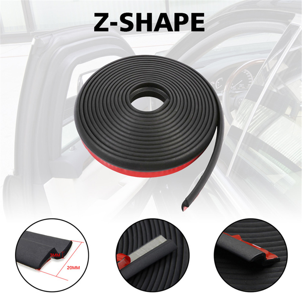 Practical Trim  Rubber  Protector Car Seal Strip Z Type Weatherstrip  Door Edge