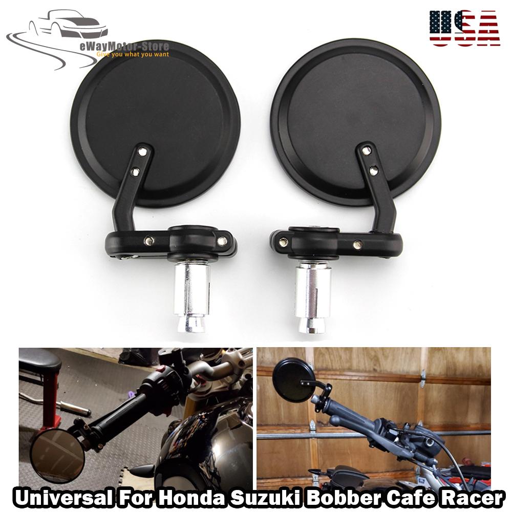 """7//8/"""" Handle Bar End Mirrors For Honda CB1000R CB1300 Hornat CBF600 Z1000 Z750"""