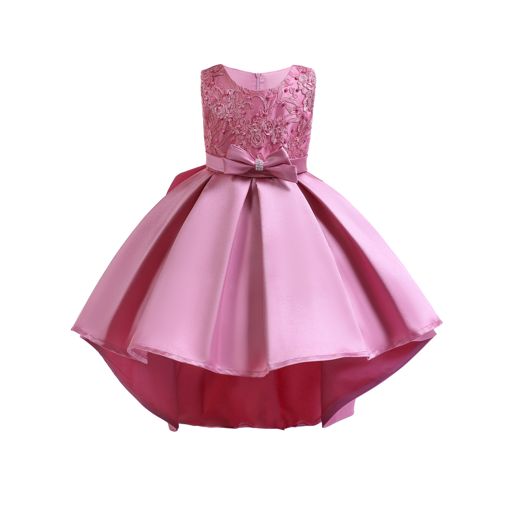 Flower Girl Kids Baby Princess Wedding Bridesmaid Party Gown Long Trailing Dress