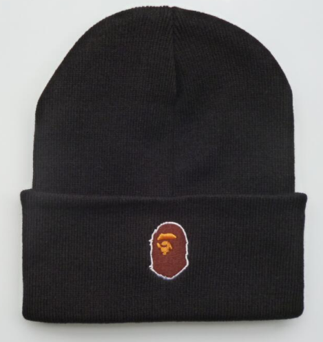 A BATHING APE BAPE Logo Beanie Knit Ski Winter Warm Hat Unisex Cap ... e238a11baa5