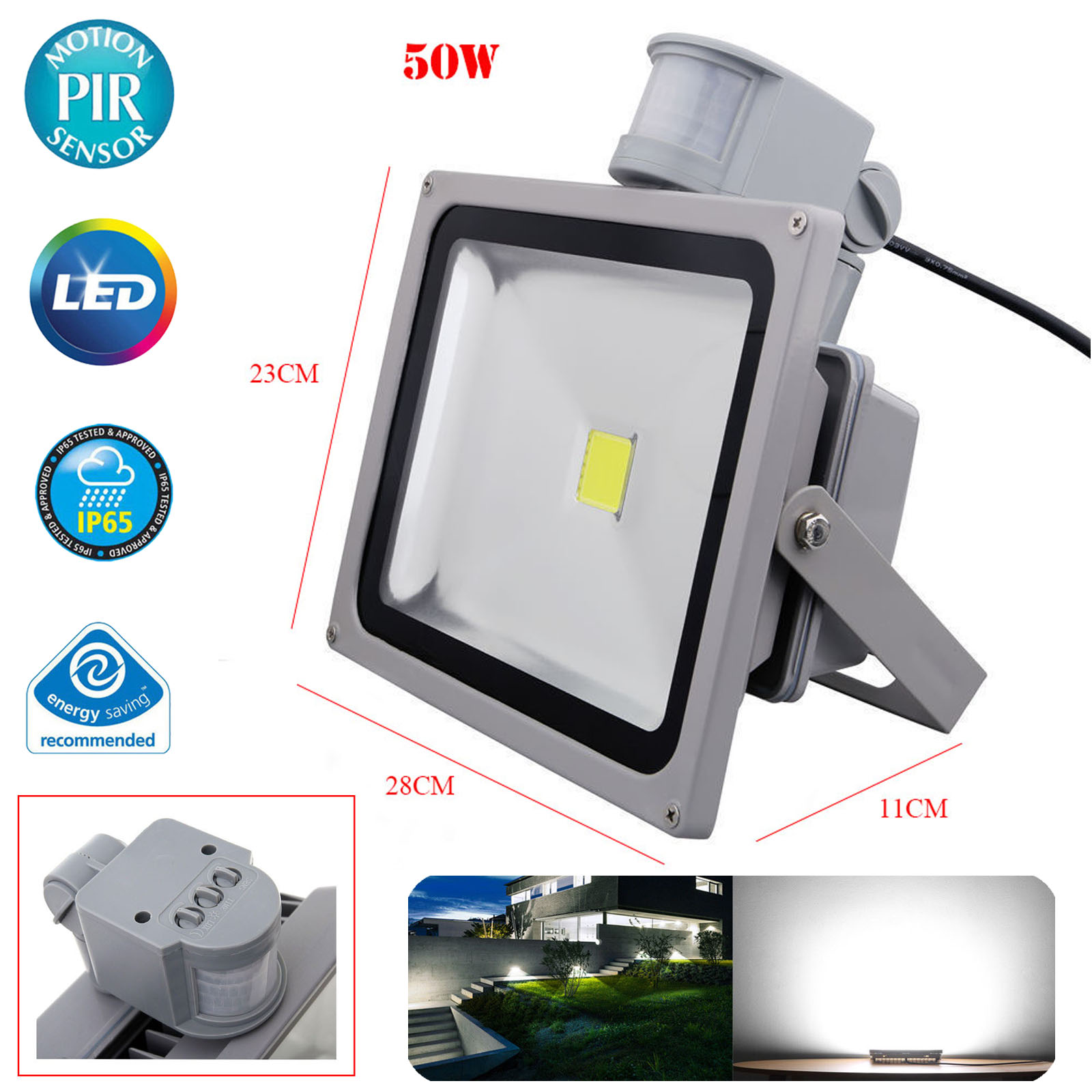 Led Pir Motion Sensor Security Outside Wall Light Outdoor Flood Further Alarm Wiring Diagram Also You May Like
