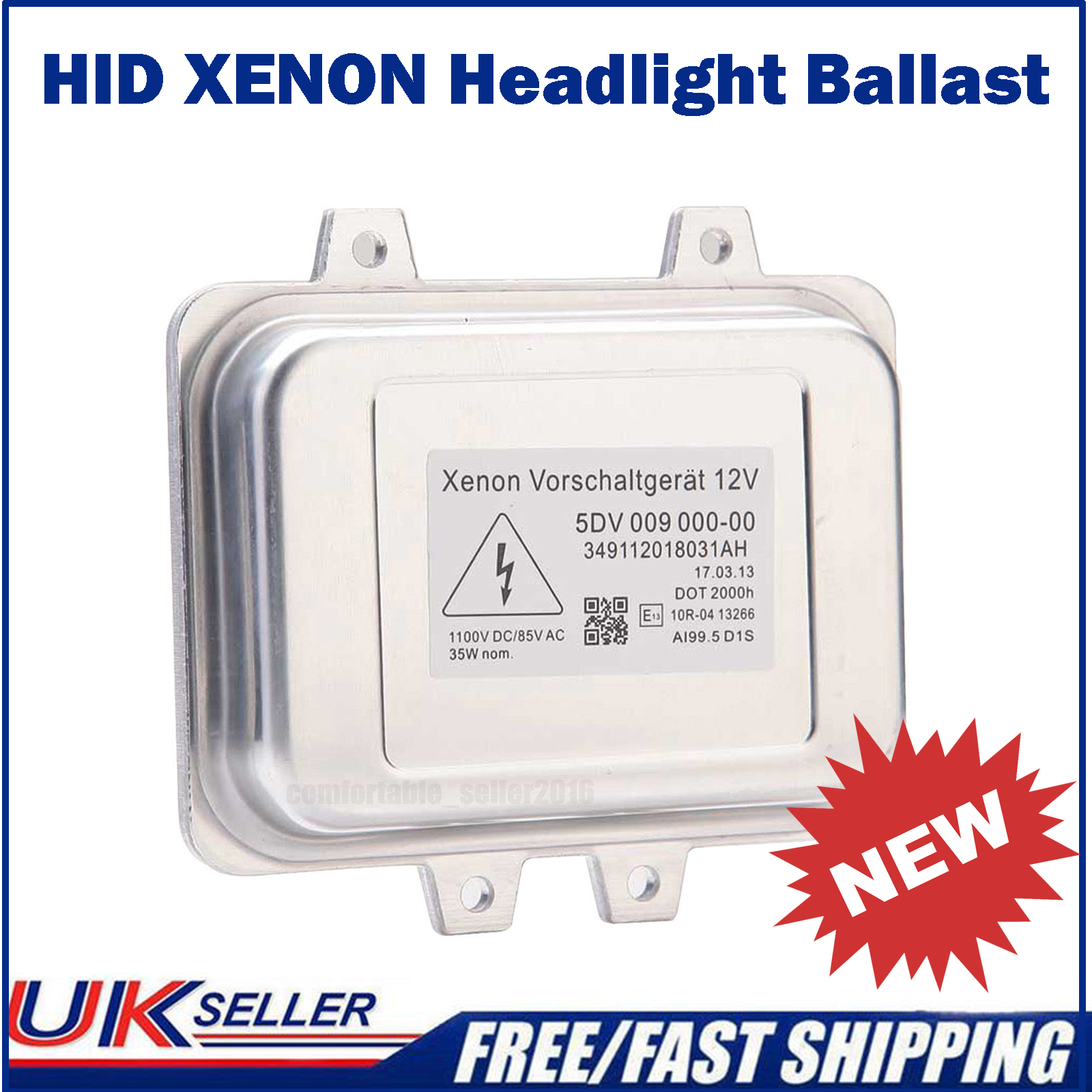 Xenon 5DV 009 000-00 Vorschaltgerät Steuergerät Ballast D1S D1R NEU 12V 35W.NEU