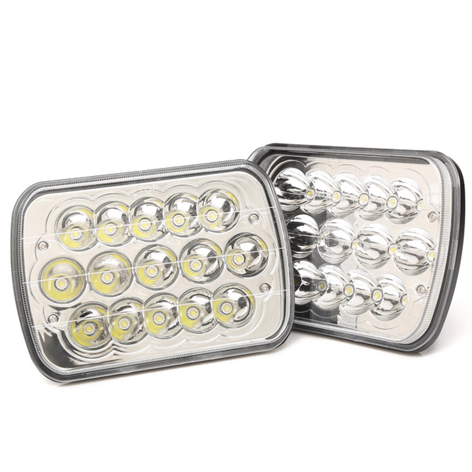 "Qty2 7/""X6/'/' LED Headlight Hi Lo Beam For Chevy Express Cargo Van 1500 2500 3500"