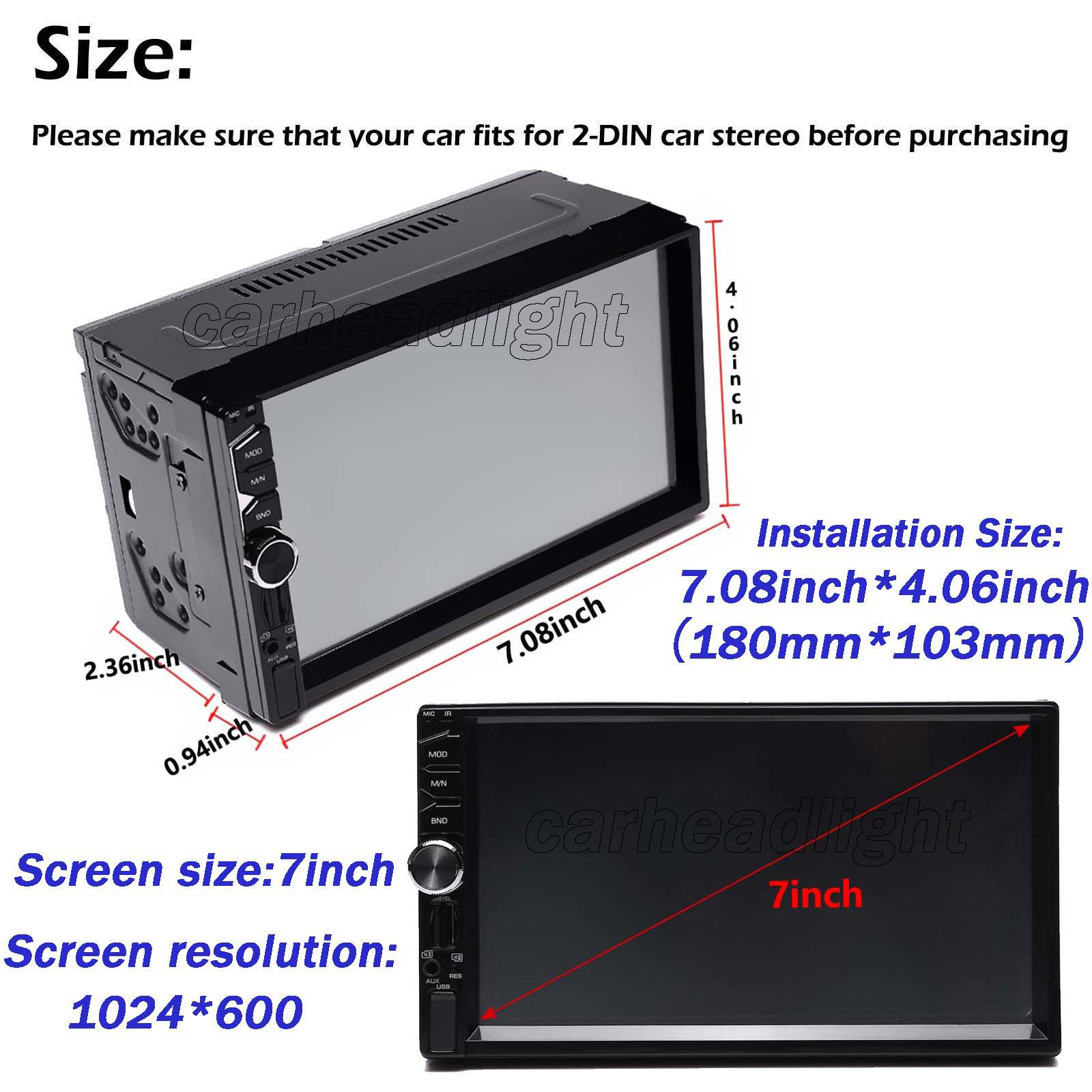 7inch 2 Din Hd Car Mp5 Player Stereo Head Unit Subwoofer Connect Eclipse Wiring 8