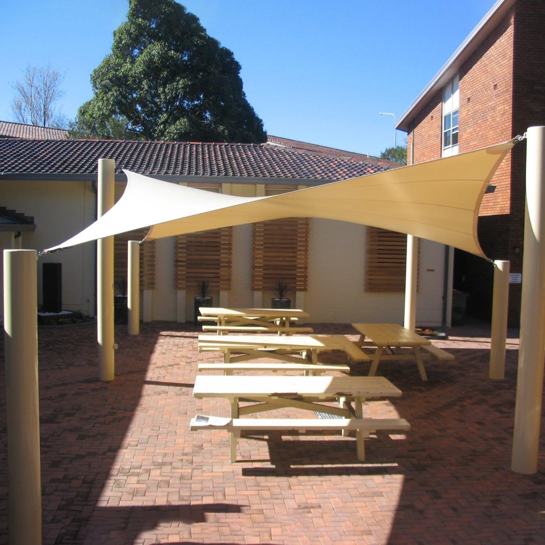 Sun Shade Sail Garden Patio Sunscreen Awning Canopy Screen ...
