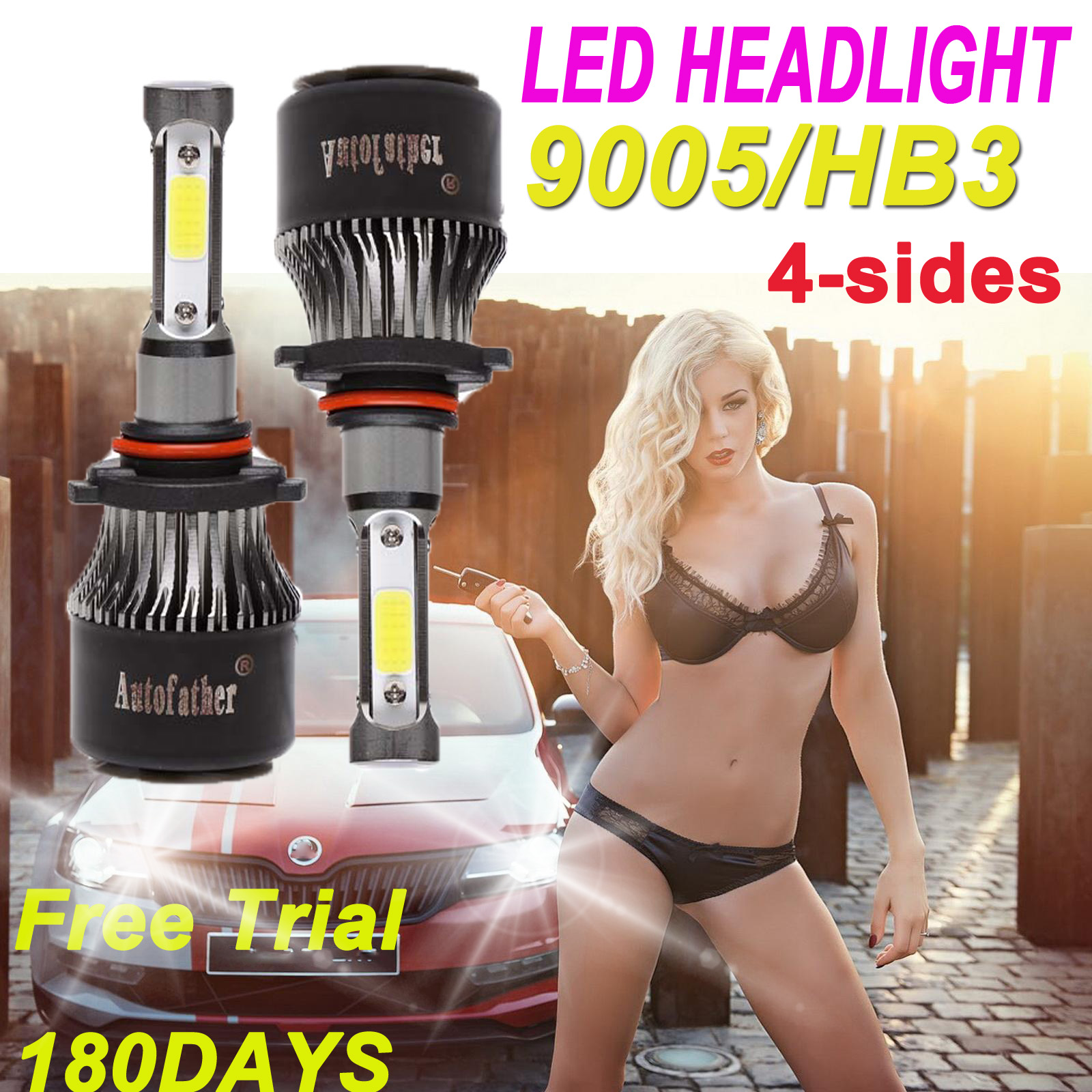 Details about 9005 HB3 300W 48000LM LED Headlight Conversion Bulb Hi/Lo  Beam HID White 6000K