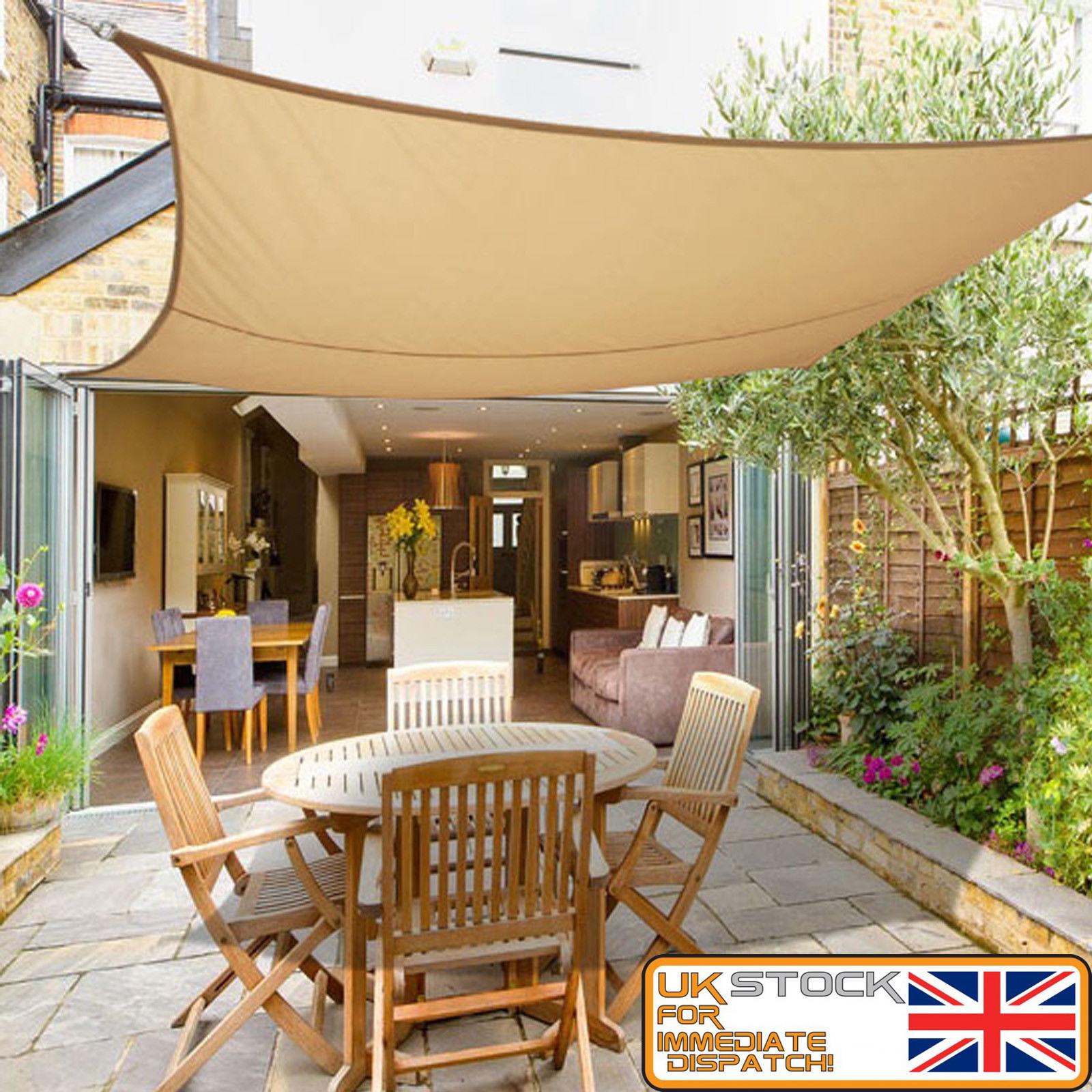 Details About Sun Shade Sail Garden Yard Patio Sunscreen Awning Canopy Uv Screen Waterproof
