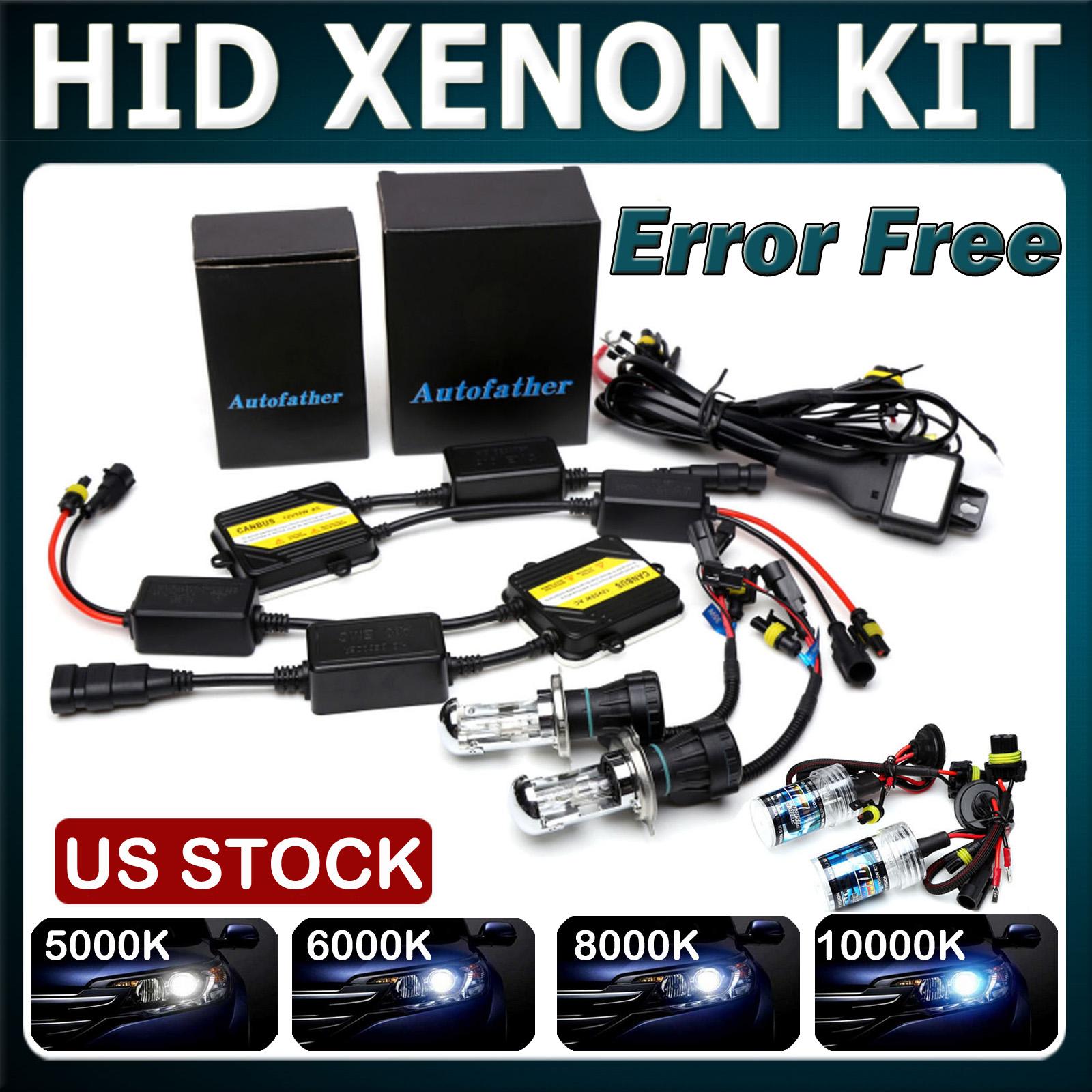 55W 55 WATT AC XENON HID LIGHTS CONVERSION KIT 6000K H11 H13 H16 9003 9004 8k h1