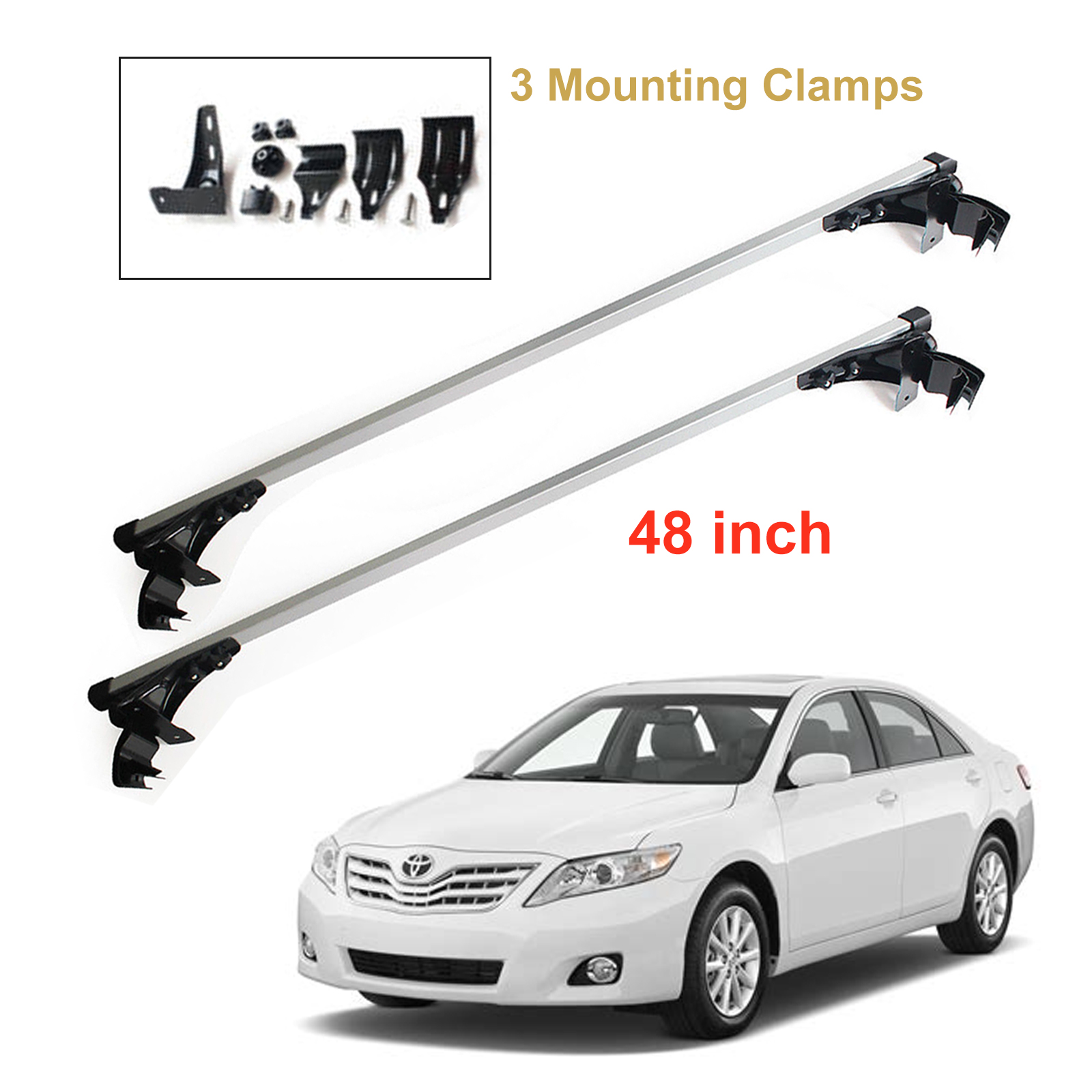 Details About New Car Roof Cargo Luggag Carrier Cross Bar Rack For Toyota Camry 2007 2017