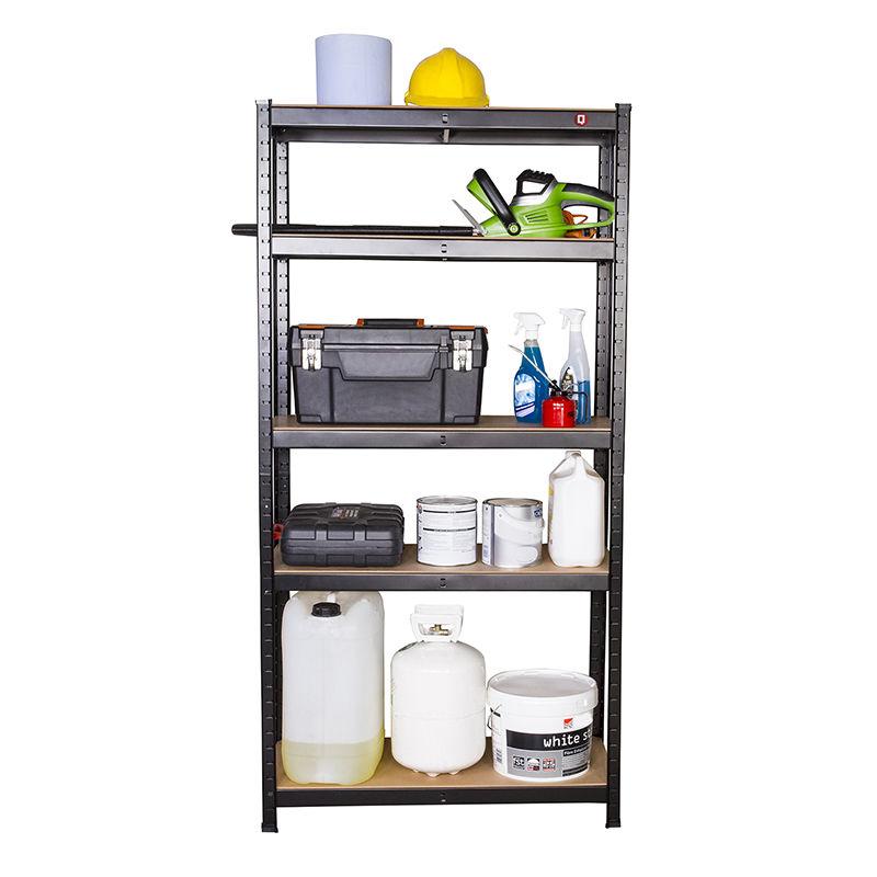1.5M Garage Shelving Unit 5 Tier EXTRA Heavy-Duty Racking Shelf Storage Bay HOME