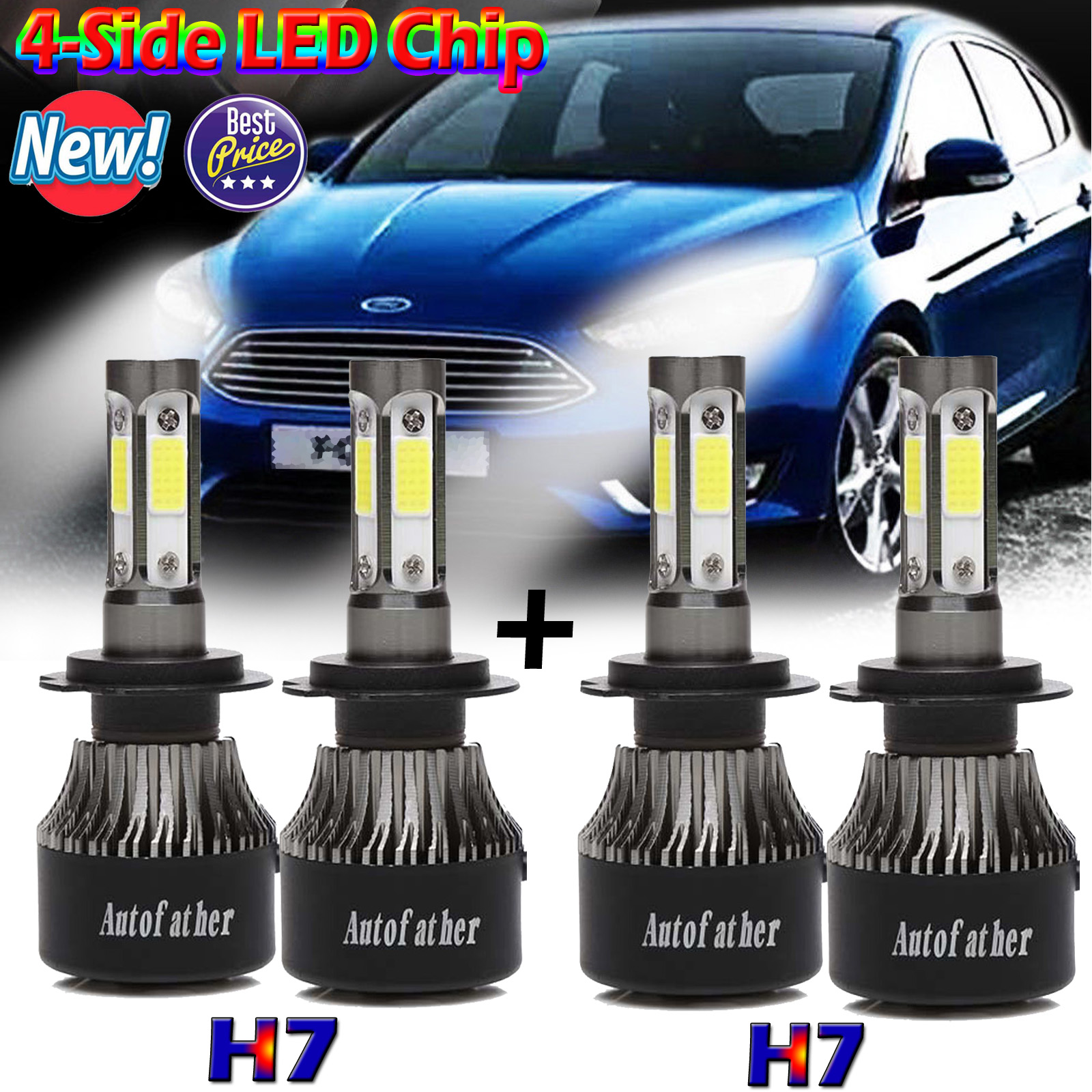 Ford F150 2015 2016 2017 High/&Low Beam LED Headlight Kit 9005 H11 Total 320W