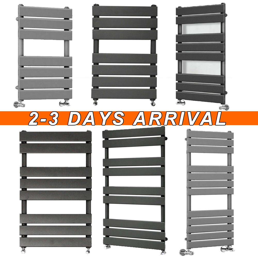 Details About Hot Water Heating Radiator Flat Panel Heated Towel Rail Bathroom Central
