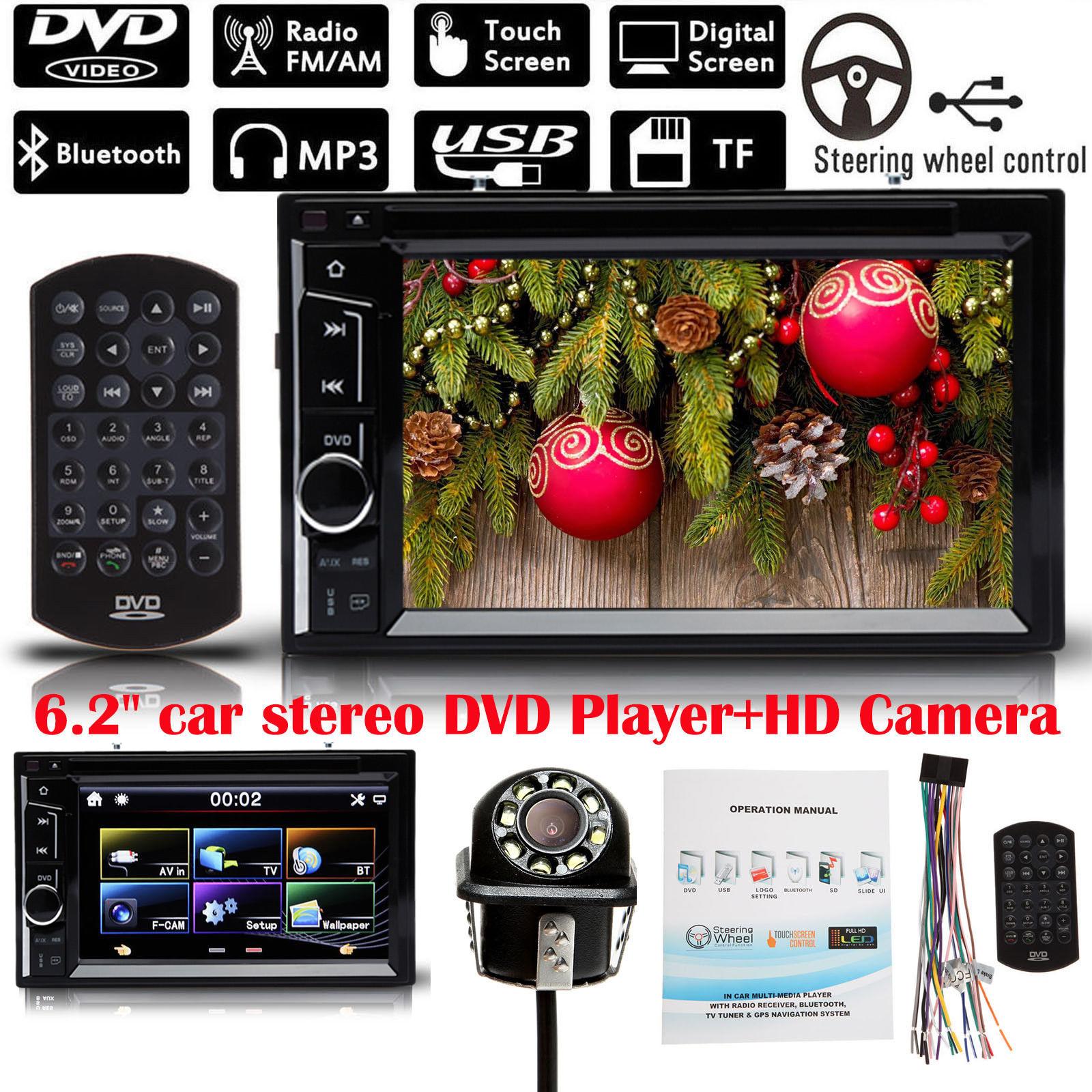 2DIN Blueteeth Car In-Dash Kit MP5 Radio AM//FM Receiver Player w// Backup Camera