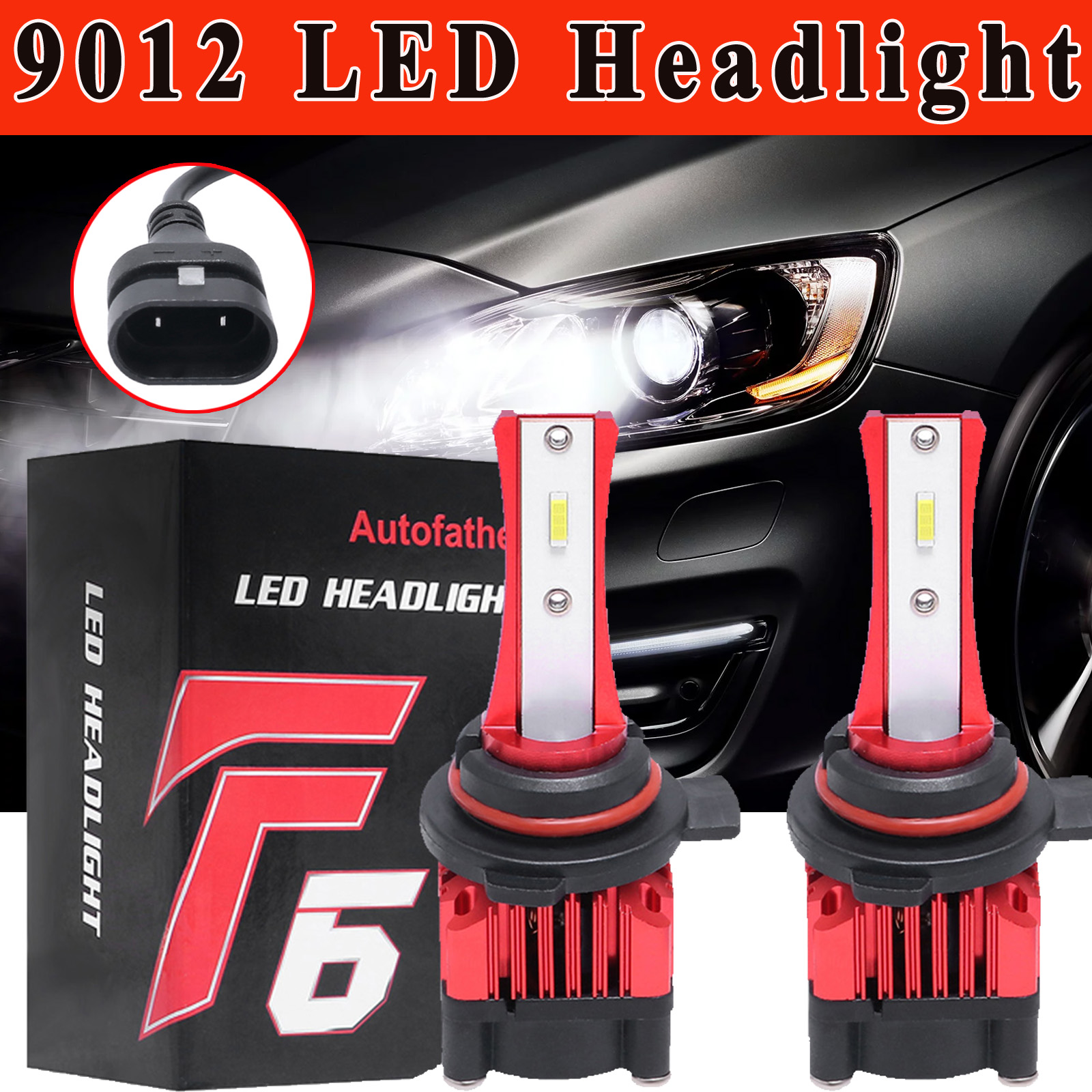 2 Yr Warranty H11 H8 H9 LED Headlight Bulbs 6000K Cool White High Beam//Low Beam//Fog Light 12000lm 4 Side COB Chips Super Bright 360 Degree Auto Headlamp All-in-One Conversion Kit Plug /& Play