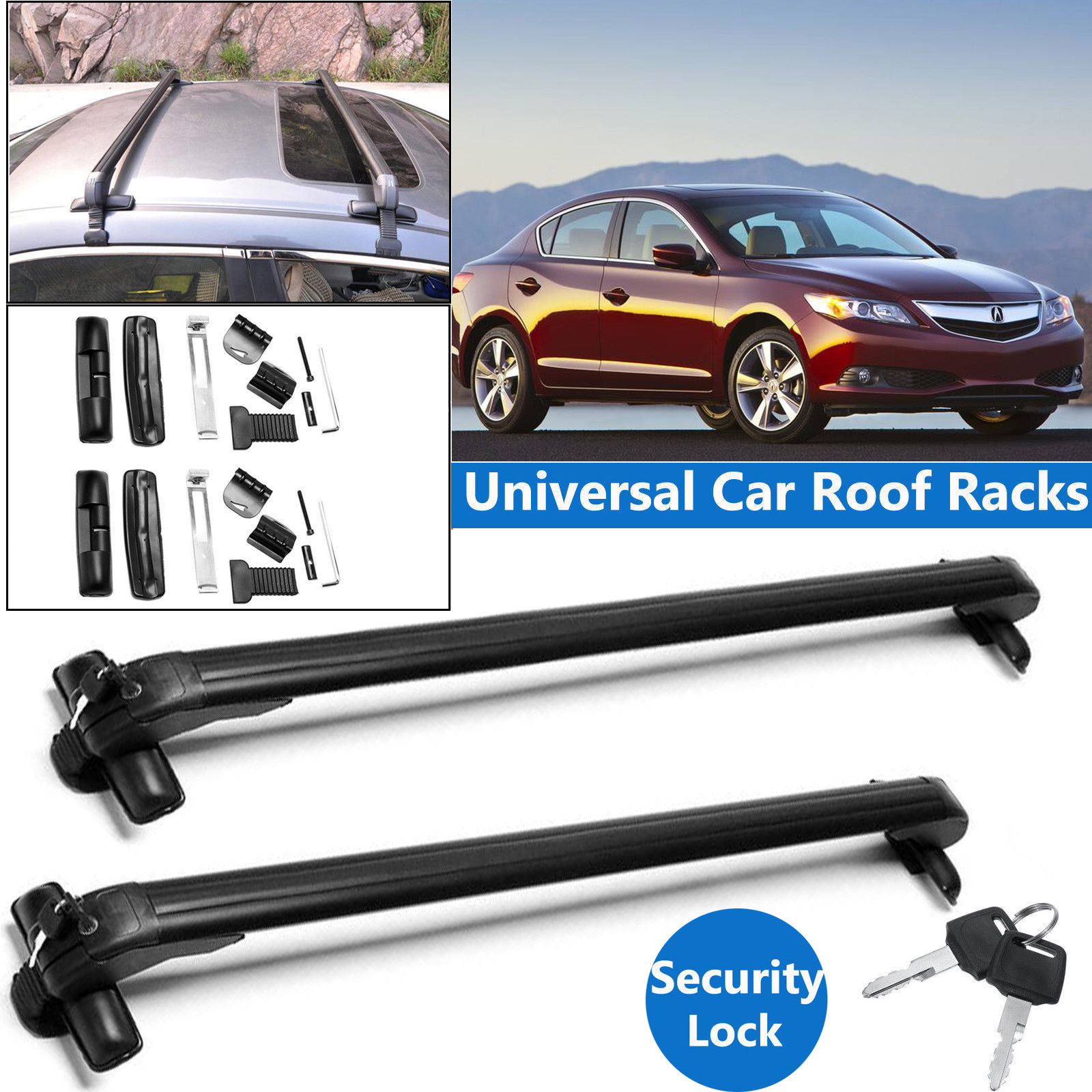For Acura ILX / RDX / RLX / TL / TSX / RL Car Roof Rack 43
