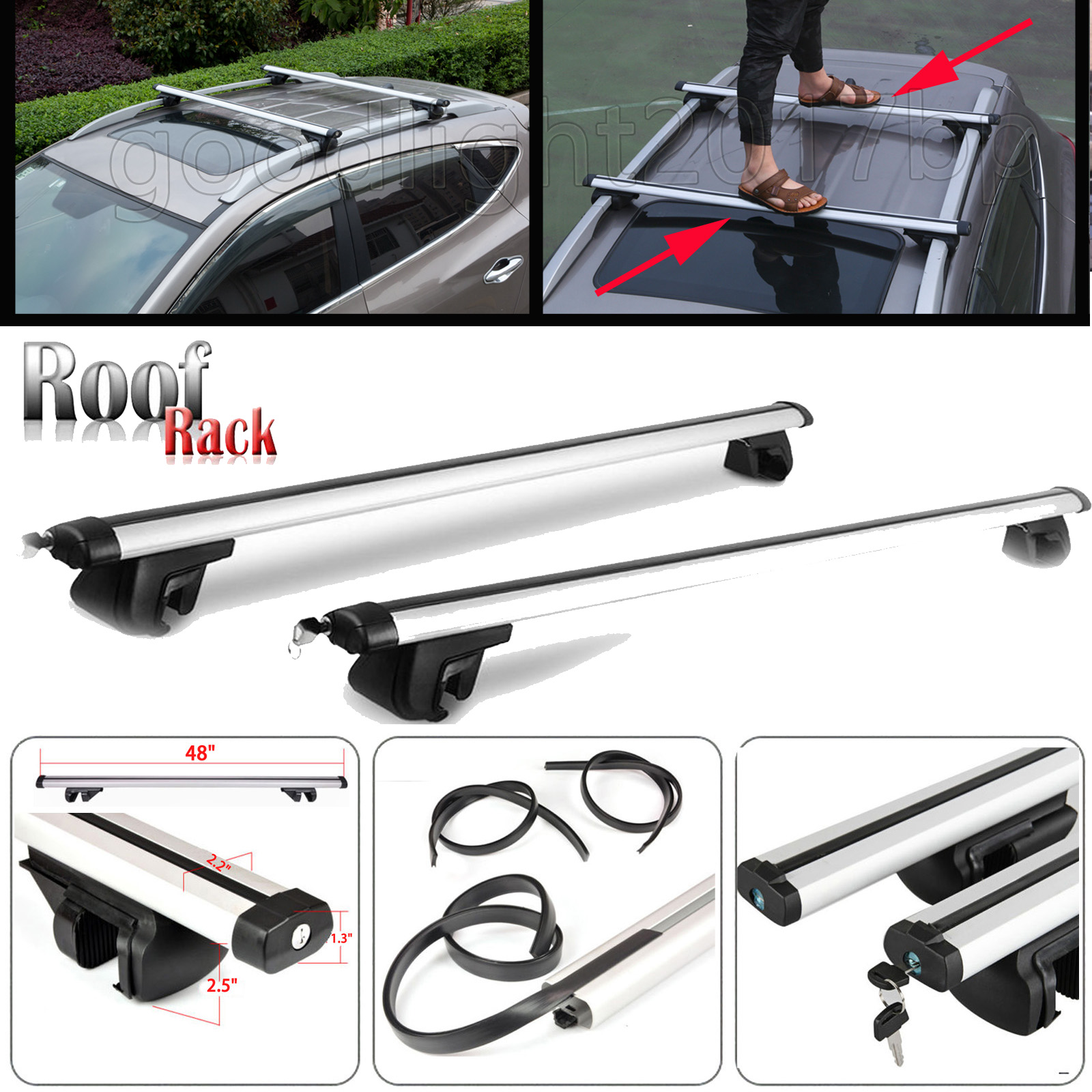 Genuine Ford Kuga Aluminium Crossbar Roof Bars For Raised Roof Rails 2012 On