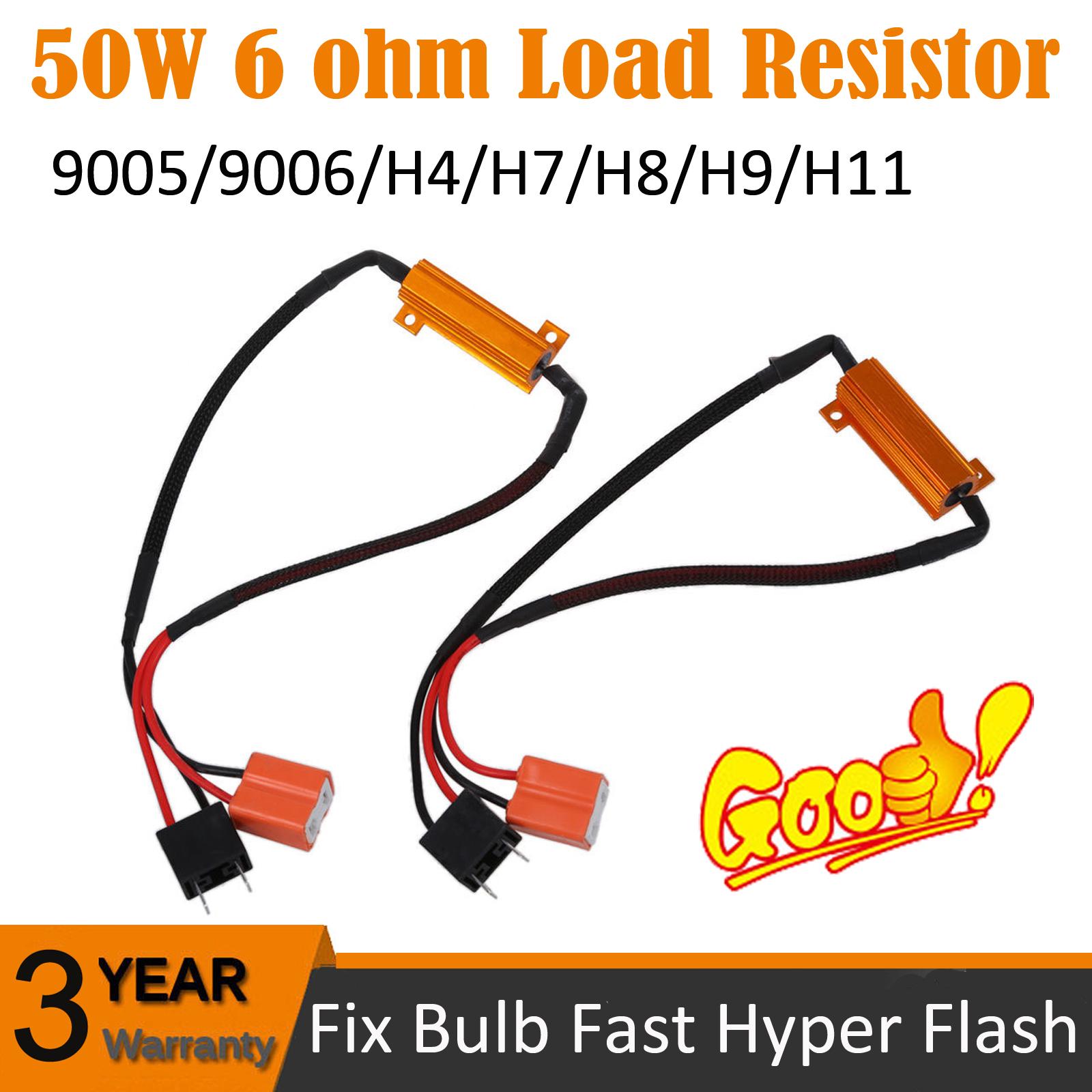 9005 9006 Led Drl Fog Light Canbus 6ohm Load Resistor Wiring Canceller Decoder