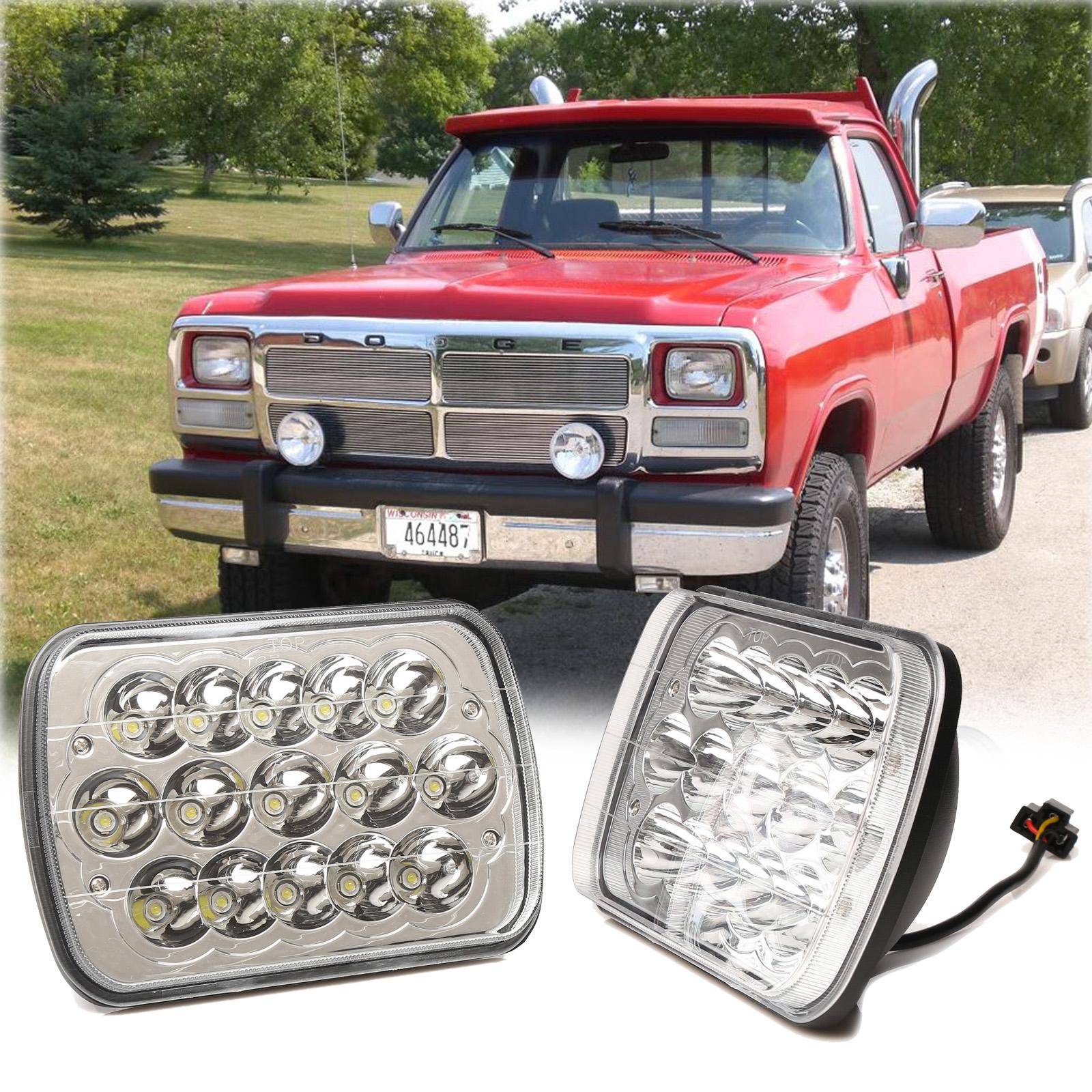 "2X 7/'/'x6/"" LED Headlight Hi//Lo Sealed Beam For Dodge W250 D350 Ram 50 Omni"