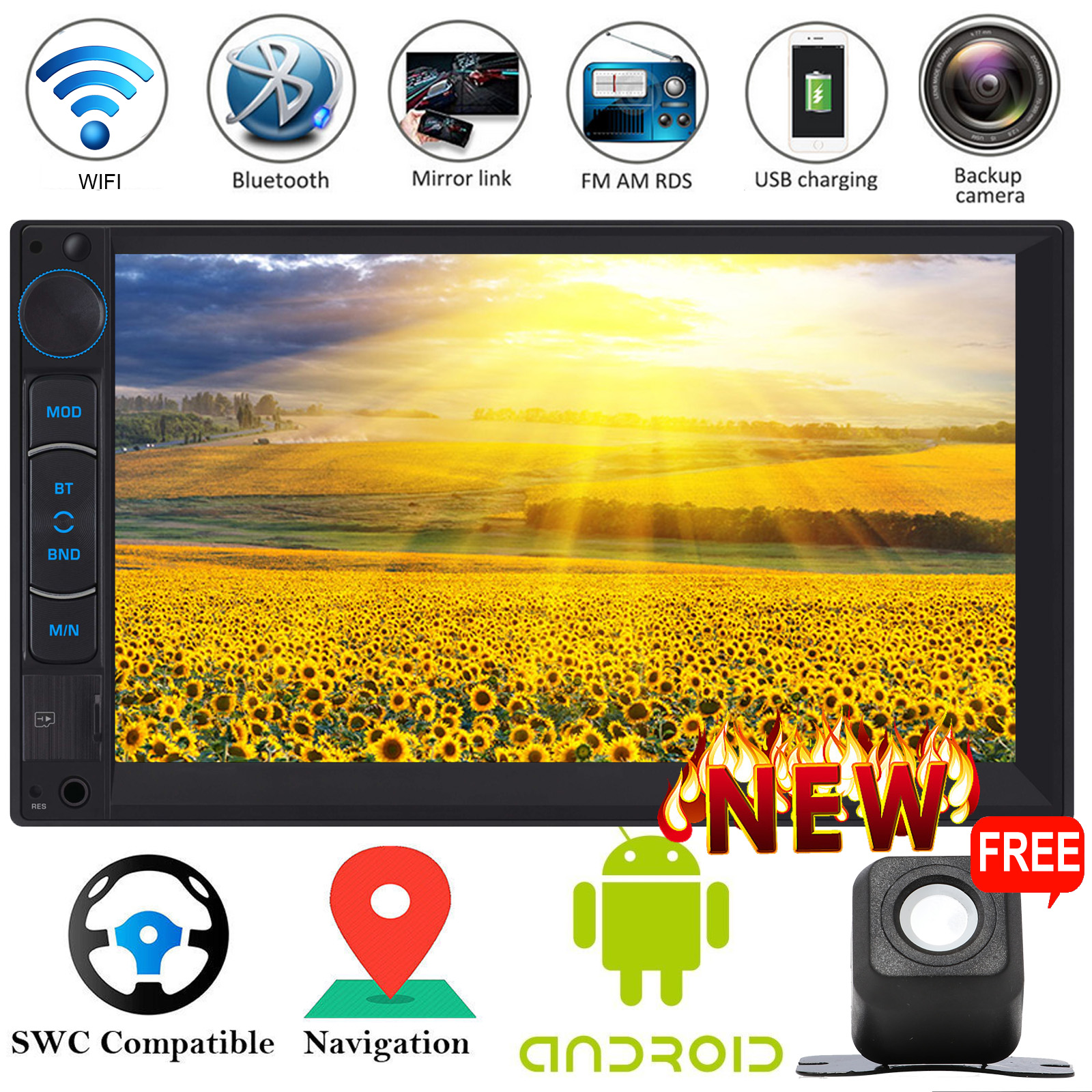 Android Car Stereo 2Din Radio & Cam For Volvo C30/C70/S40