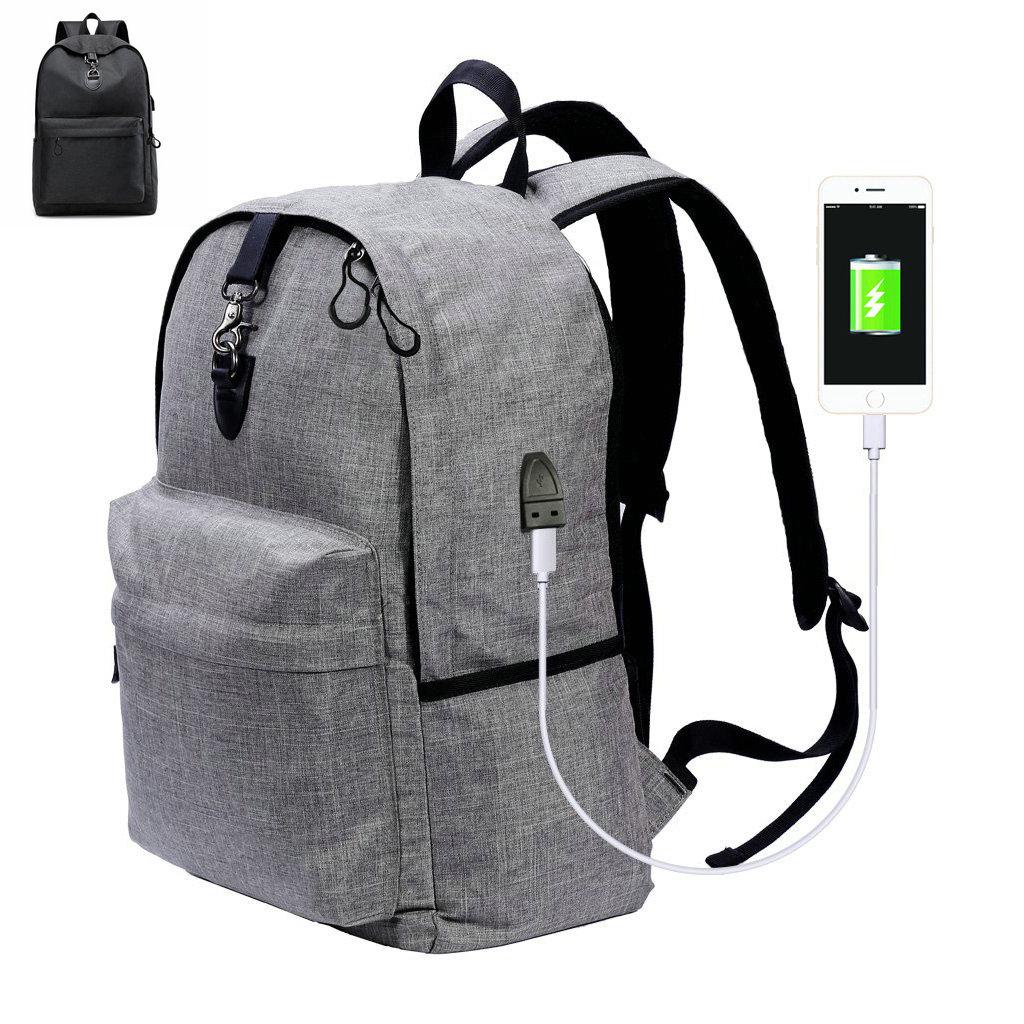 Travel Anti Theft Waterproof Laptop Backpackusb Charging Port Notebook Protector School Bookbag