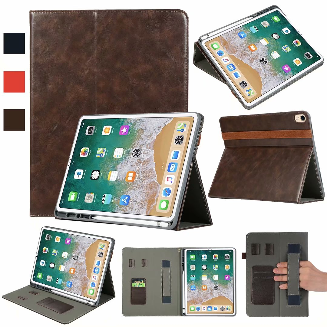 size 40 f3b86 ab7f3 Details about For iPad Pro 12.9 3rd Gen 2018 Stand Leather Case with Pencil  Holder Smart Cover