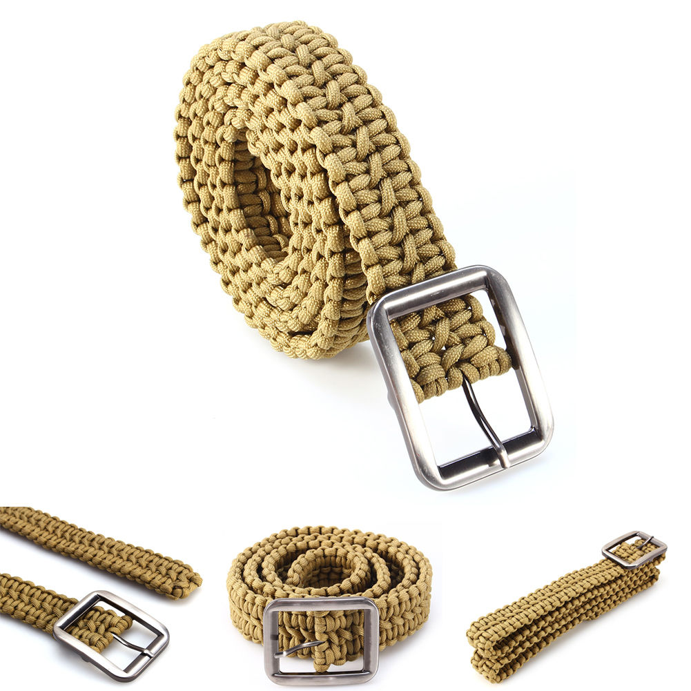 Camping Climbing Survival cord Solid Steel Buckle 480 pounds Paracord Belt