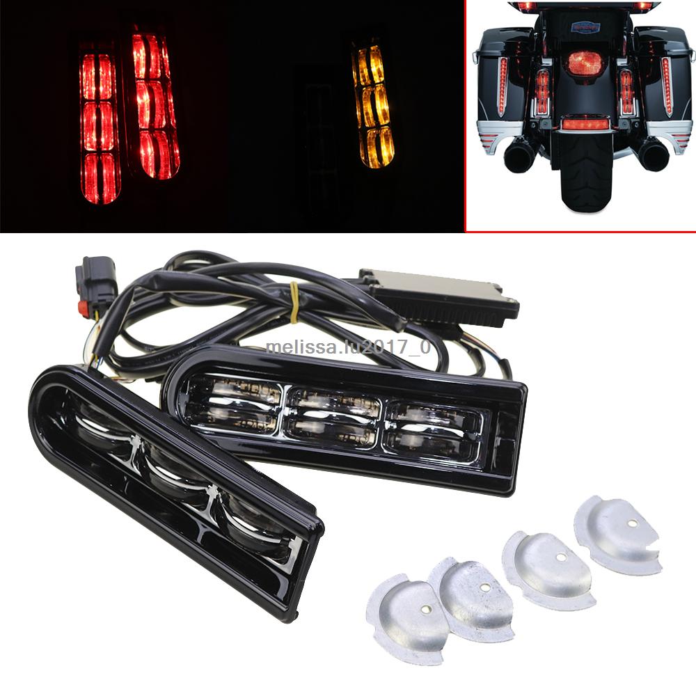 Kuryakyn Chrome Saddlebag Filler Support LED Lights Harley FLHTCU FLHR /'14-/'18
