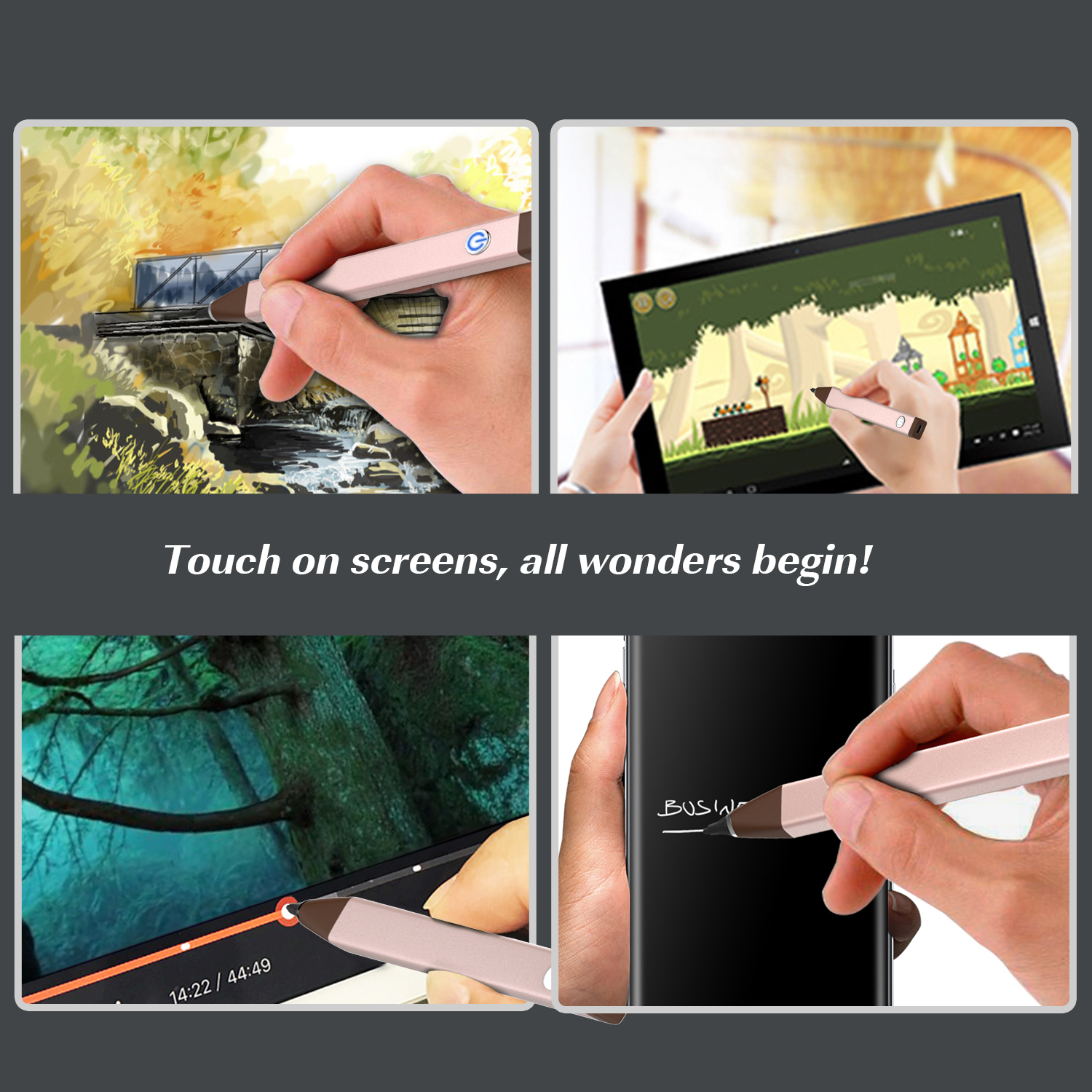 moko universal active stylus touchscreen digital pen for huawei  htc  google  lg 736313000115