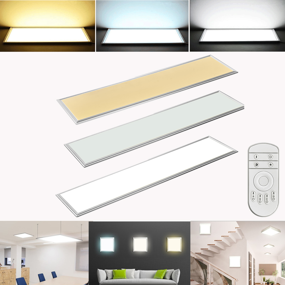 30x30 120x30 60x120cm led panel ultraslim deckenleuchte wandleuchte licht lampe ebay. Black Bedroom Furniture Sets. Home Design Ideas