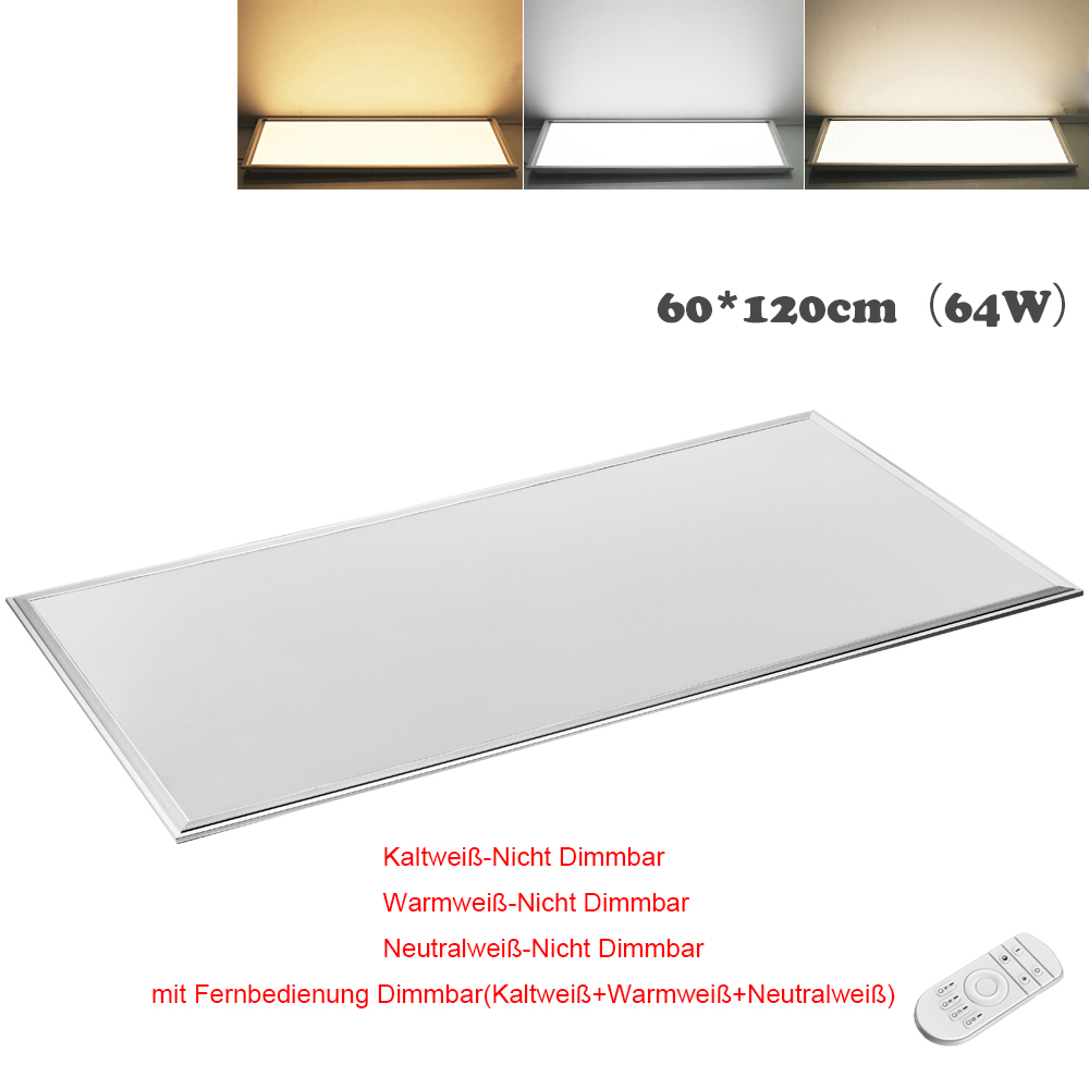 led panel 120x30 120x60 30x30 60x60cm dimmbar deckenleuchte wandlampe ultraslim ebay. Black Bedroom Furniture Sets. Home Design Ideas