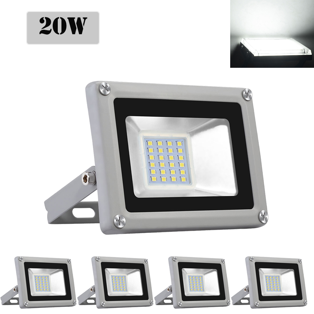 6X 50W LED Floodlight LEMBRD Cool White Outdoor Garden Lighting Security Lights