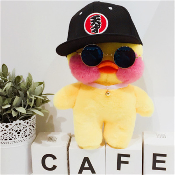 Hot Sale 30cm Korea Lalafanfan Cafe Mimi Yellow Duck Plush Toy Stuffed Doll Gift