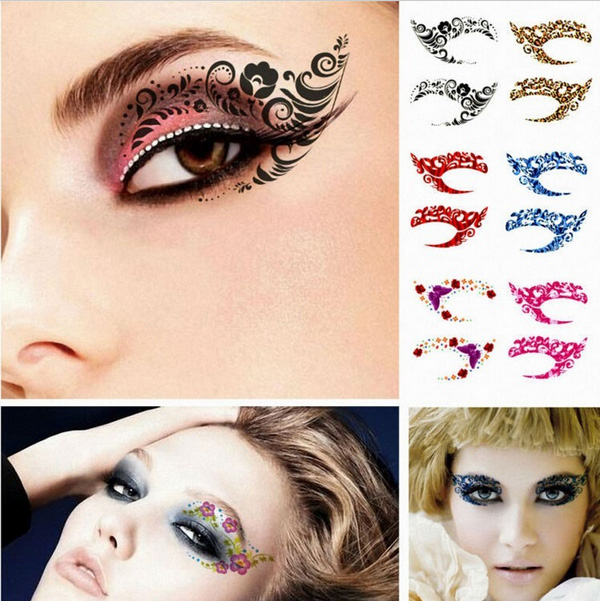 eyeliner eyelid temporary tattoo sticker makeup eye shadow