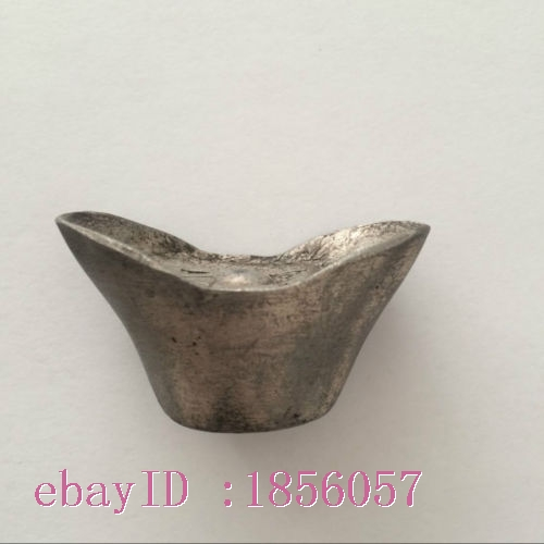 antique  The qing dynasty officials in ancient China special silver treasure.