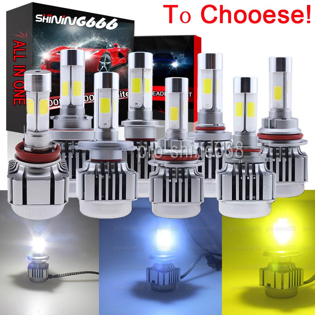 120W LED Headlight KIT Bulbs 3K Yellow 6000K White 10K Light Blue Low Beam H11