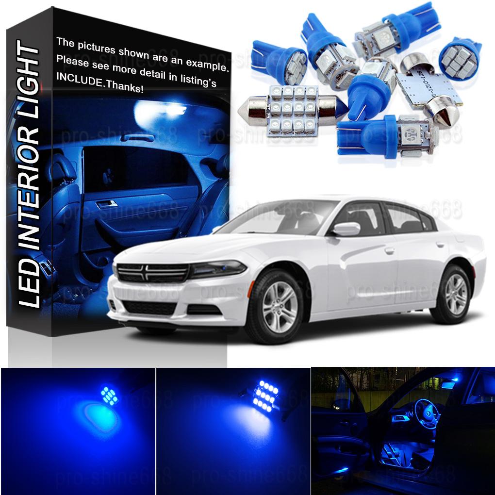 10000K Blue Interior LED Lights Package Bulb SMD For 2015