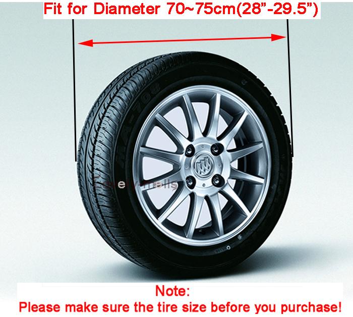 Moonet R15 Suzuki Sidekick Spare Tire Cover 28inch Diameter 70-75cm
