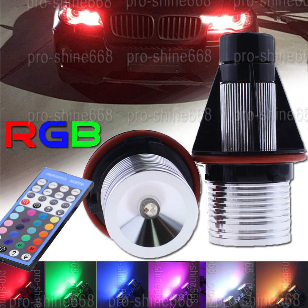 Lux LED Angel Eyes RGB Wifi Control Halo Ring Light  For BMW E39 E53 E60 E61 E63