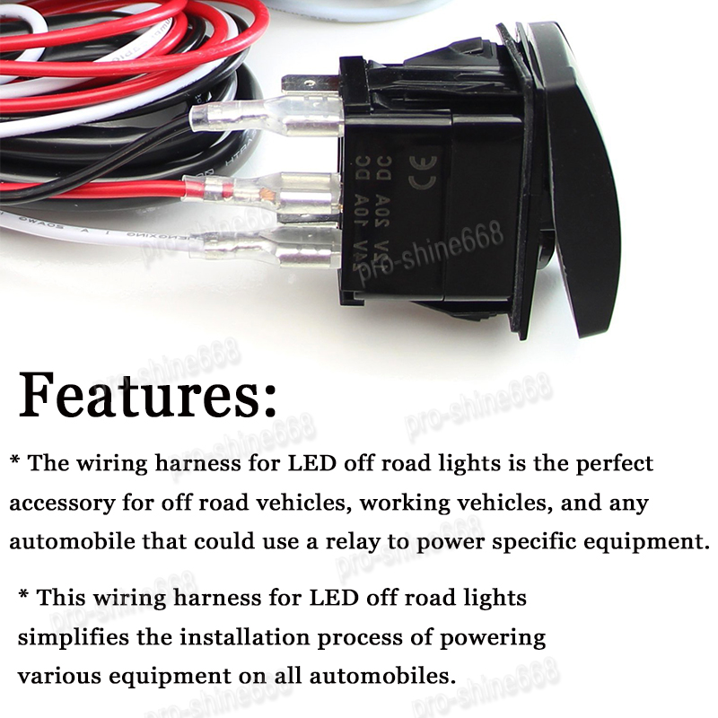 Universal Pin Car Dual LED Light Switch Toggle ONOFF Relay - Toggle on off relay
