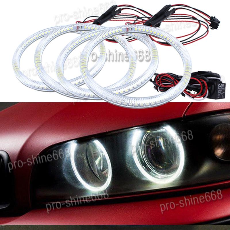 4x Excellent CCFL Angel Eyes kit For Hyundai Tiburon 2003-2006 Halo Ring