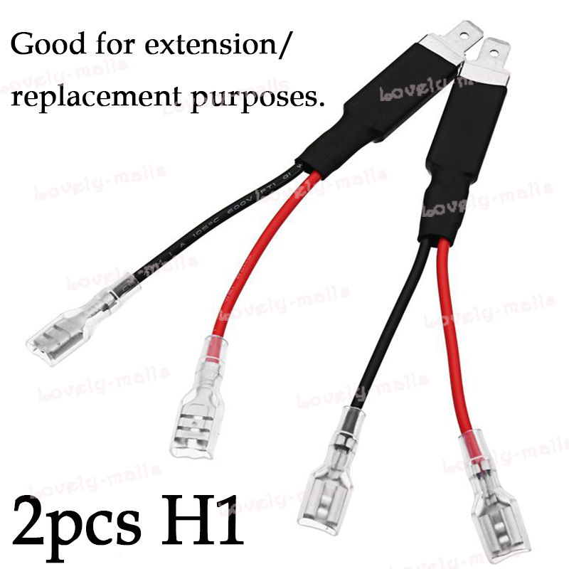 h1 2 wire car led hid headlight wiring harness cable socket hid install diagram details about h1 2 wire car led hid headlight wiring harness cable socket connector adapter