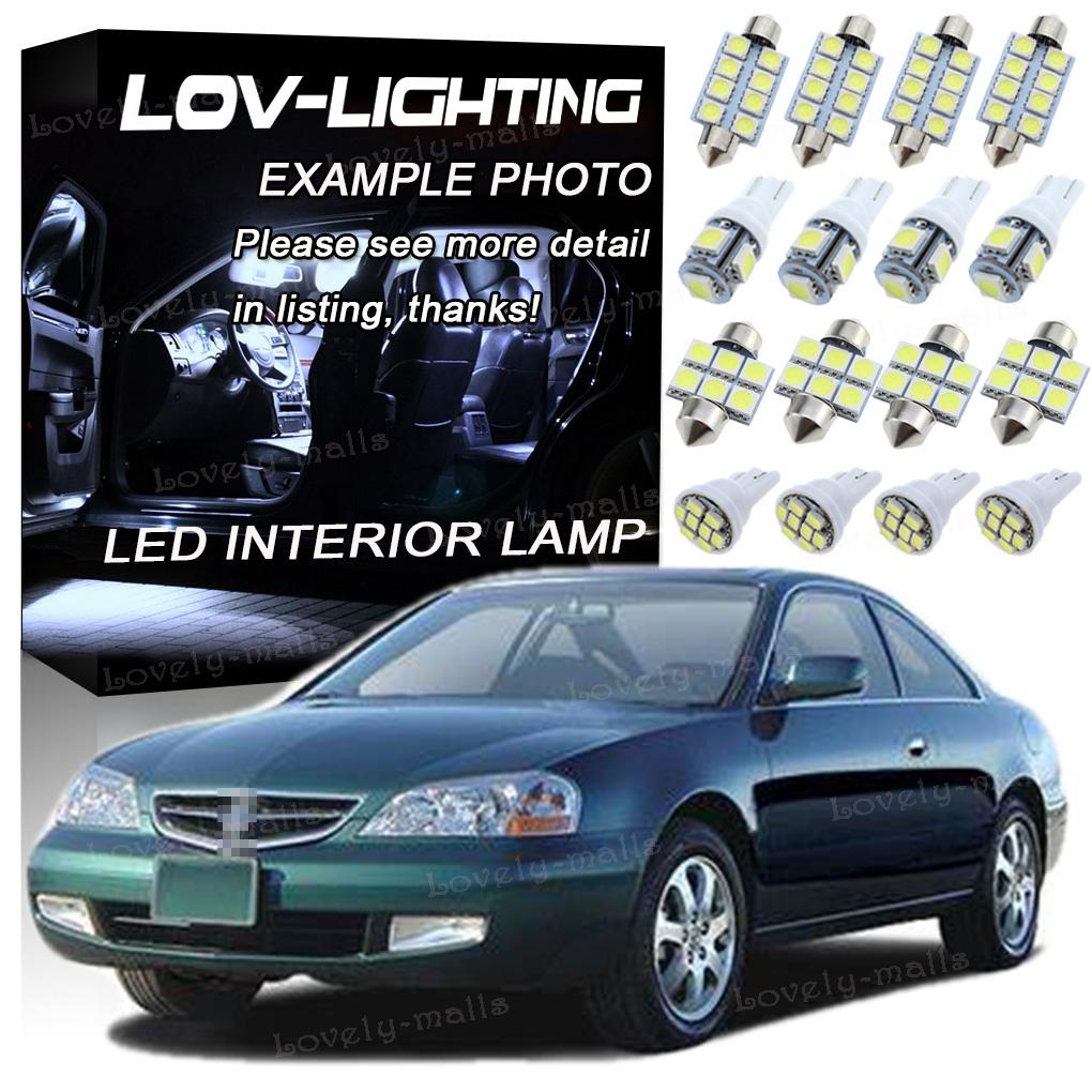 15Pcs 6000K White Interior LED Lights Package Kit Fits For