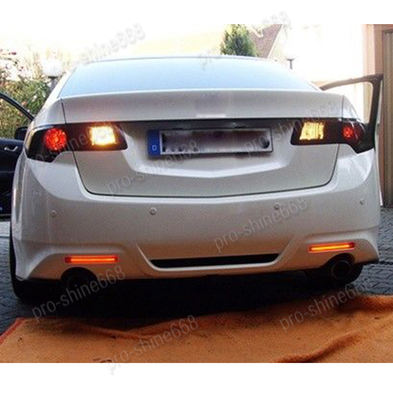 Red Lens Rear Bumper Reflector LED Tail Stop Brake Light