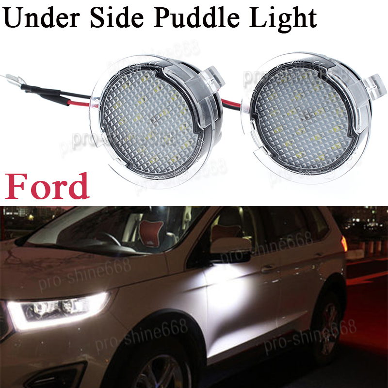 Details About 2x High White Led Side Mirror Puddle Lights For Ford Fusion 2017