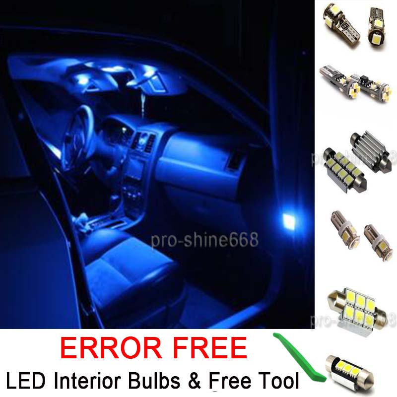 Details About New Interior Car Led Bulb Light Kit Package Xenon Blue For Mercedes C Cl W204