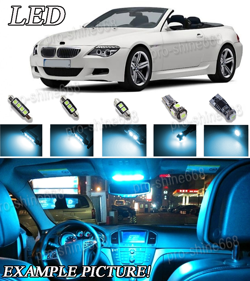 BMW 6 series M6 E63 E64 LED canbus FULL Interior Kit bulbs *Warranty Tool*