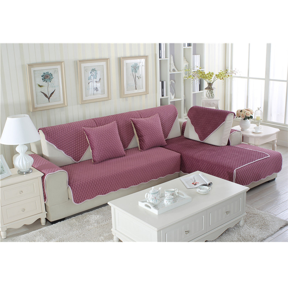 Furniture Dust Cover Fabric: Cotton Sofa Mat Couch Furniture Pad Cover Slipcover Dust