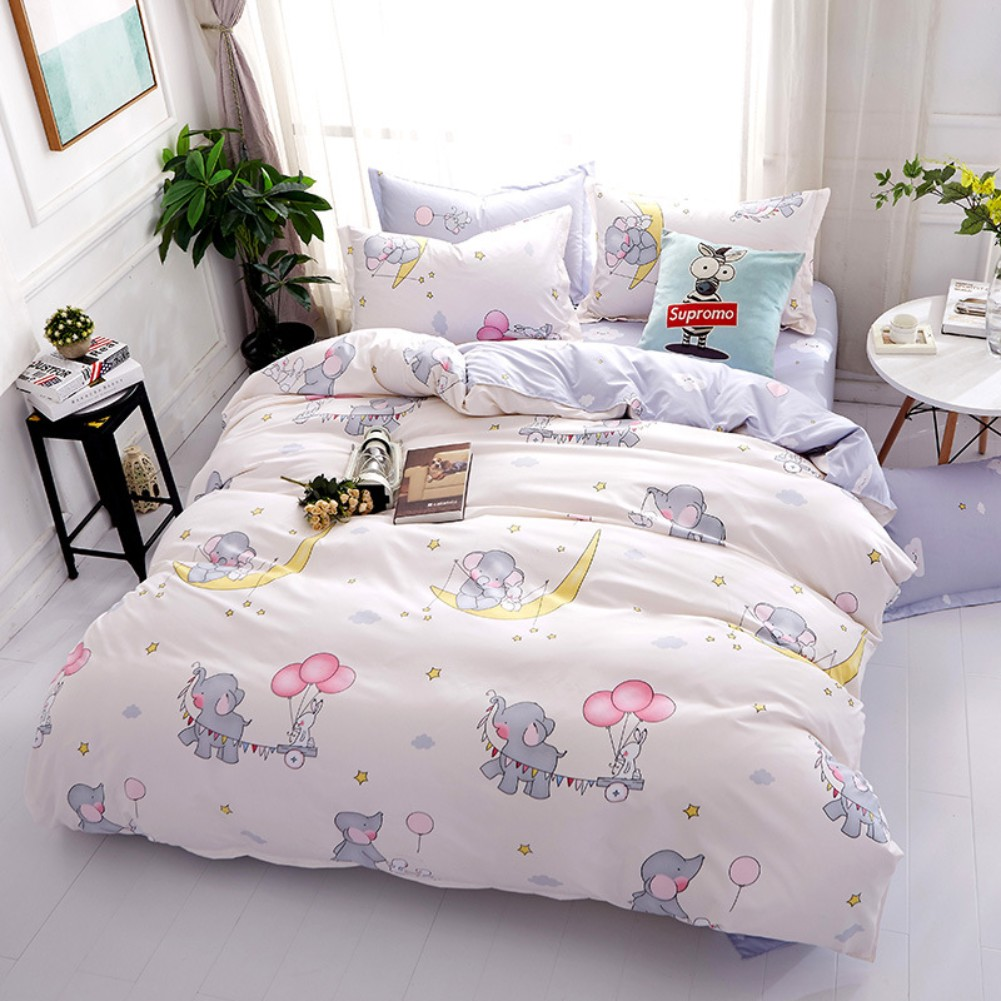 unicorn flamingo bed pillowcases quilt cover duvet cover set twin queen double ebay. Black Bedroom Furniture Sets. Home Design Ideas